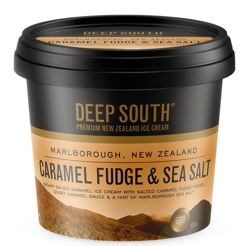 Deep South Ice Cream 450mls (Caramel Fudge and Sea Salt)