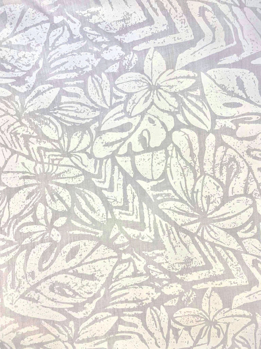 White Cotton Elei Print 3/per meter