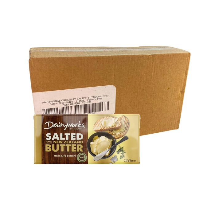 Dairyworks butter salted 40's x 227g