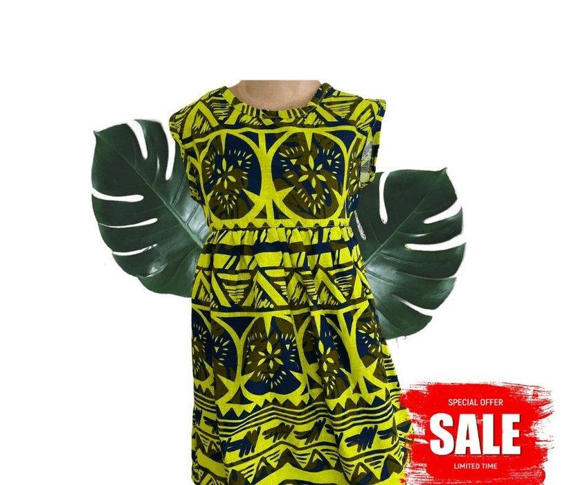 Kids Coloured Elei Dress (Assorted sizes) - MADPACIFIC