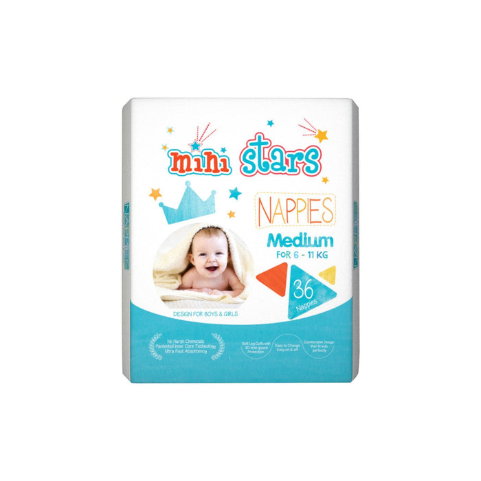 Mini Stars Kids Nappies (M) 36's - MADPACIFIC