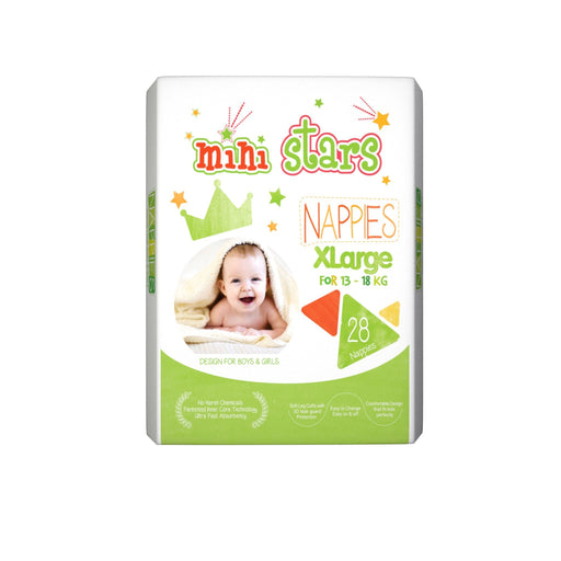Mini Stars Kids Nappies (XL) 28's kids nappies SAMOASUPERMARKET