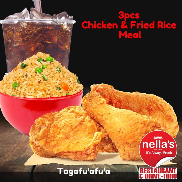 Nella's 3-pc Chicken & Fried Rice Meal - MADPACIFIC