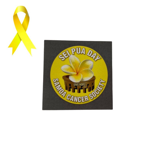 Samoa Cancer Society - Sei Pua Sticker - MADPACIFIC