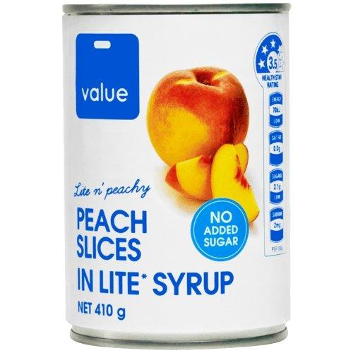 Value Peach Slices in Syrup 410g - MADPACIFIC