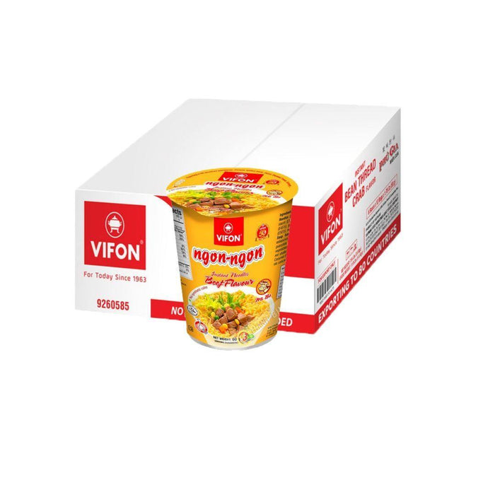 Vifon Noodles Cup 24x85g BEEF (Box) - MADPACIFIC