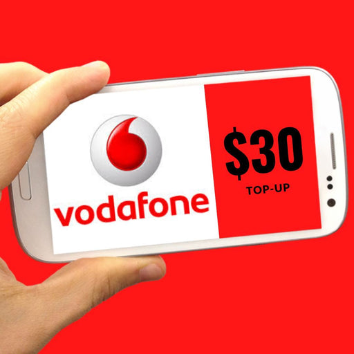 Vodafone top-up $30 - MADPACIFIC