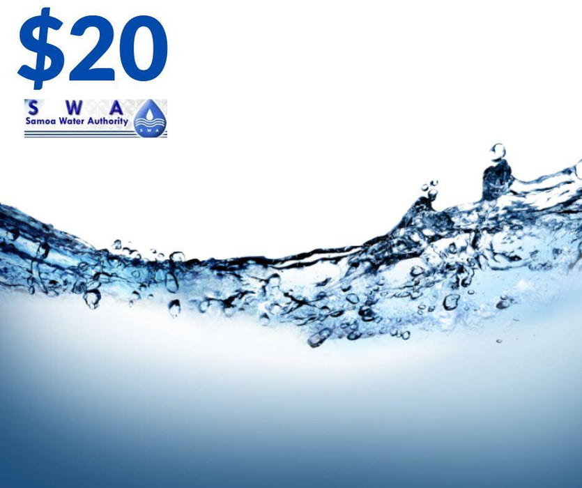 Water bill $20 water top up samoa water authority