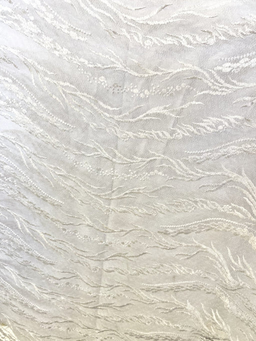 White Lace with beads Design 4/per meter - MADPACIFIC