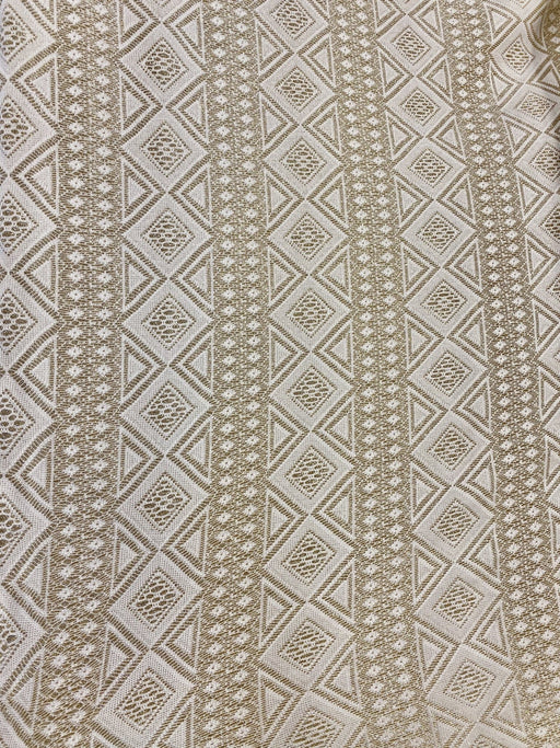White Lace with gold lining Design 3/per meter - MADPACIFIC