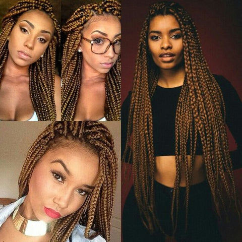 Freetress Synthetic Hair Crochet Braids Long Medium Box Braid 24