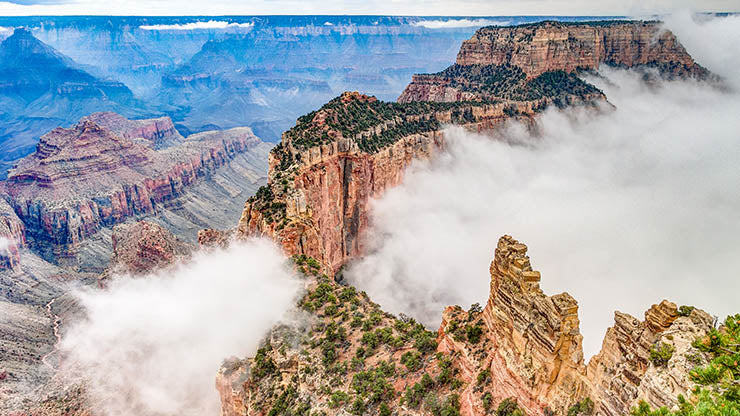 Misty Views of Cape Royal, Grand Canyon