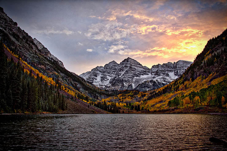 The Maroon Bells in Fall