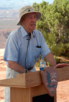 Stewart Udall Speaking at a National Park