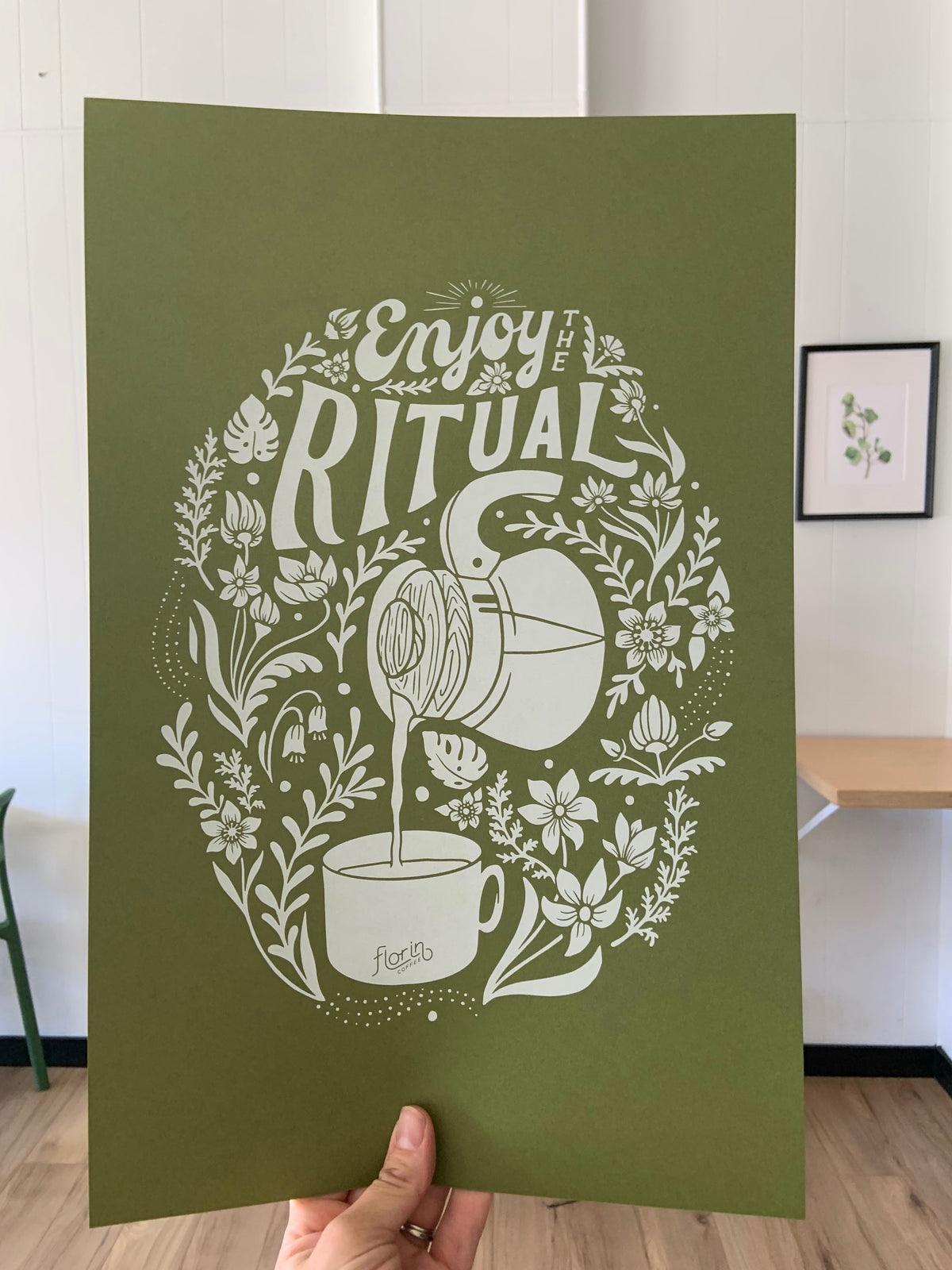 Enjoy the Ritual Print- Olive
