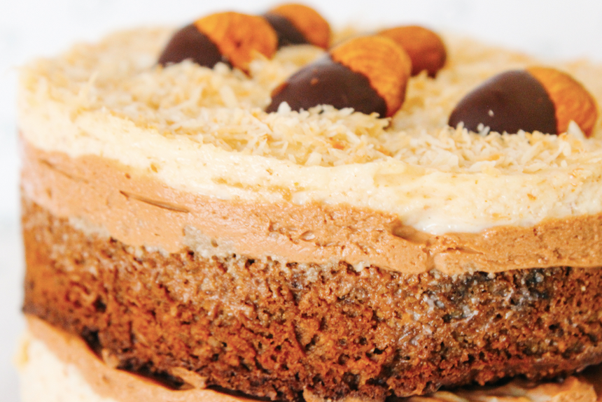 Pastel de Almond Joy KETO