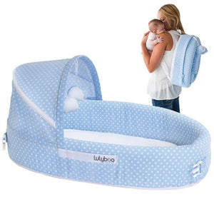 LulyBoo Baby Lounge To Go Travel Bed, Blue