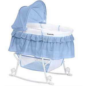 Dream On Me Lacy Portable 2-in-1 Bassinet and Cradle, Serenity