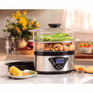 Hamilton Beach 5.5 Quart Digital Steamer | Model# 37530