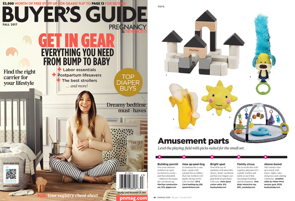 Hello Spud featured in Pregnancy and Newborn Buyers Guide September 2017