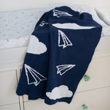 Blanket - Chenille Paper Airplanes
