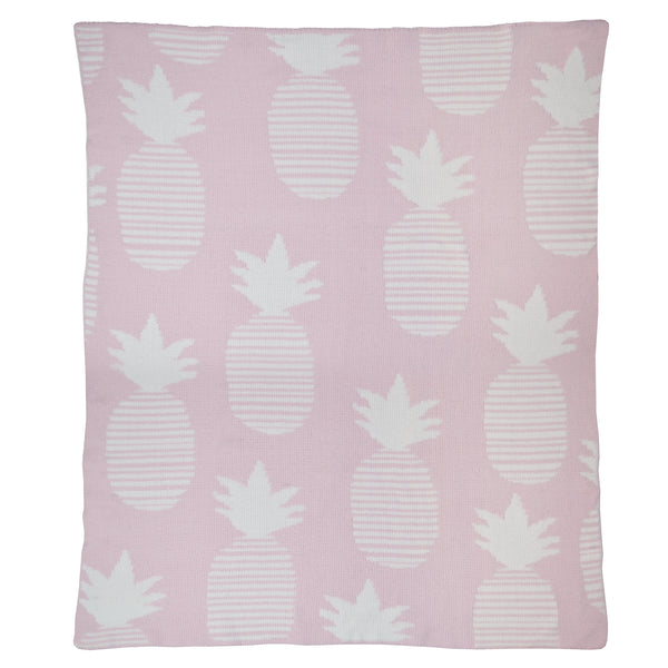 *NEW* Blanket - Chenille Pink Pineapple