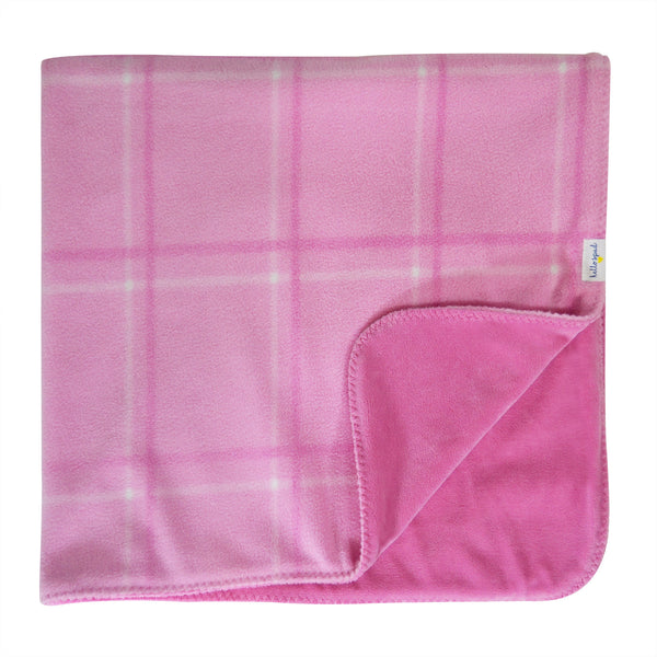 Hello Spud Plaid Blanket Pink