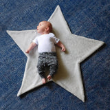 Hello Spud Shape Blanket Plush Gray Star