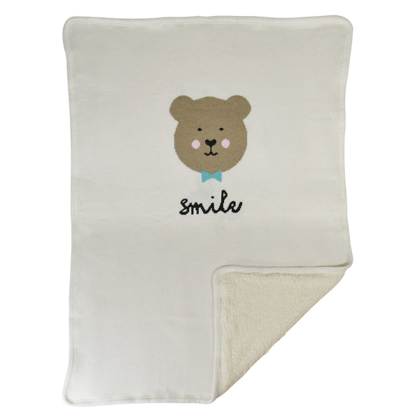 Hello Spud Smile Bear Blanket