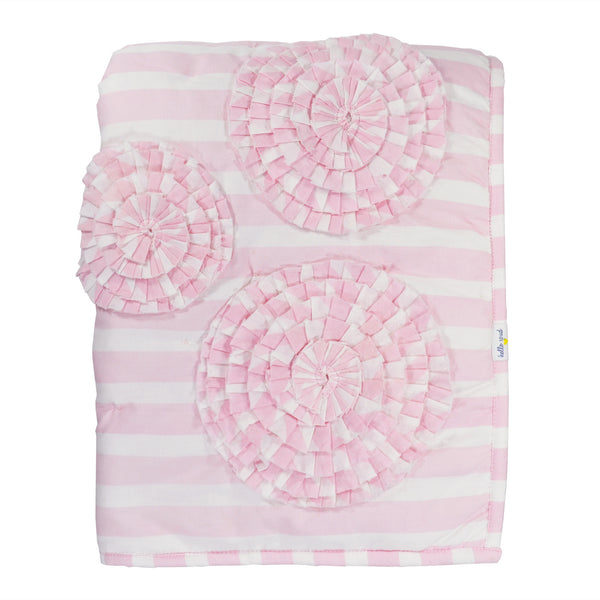 Hello Spud Quilt Paris Baby Pink Flower Applique