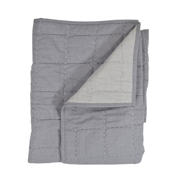 Hello Spud Quilt - Box-Stitched Gray