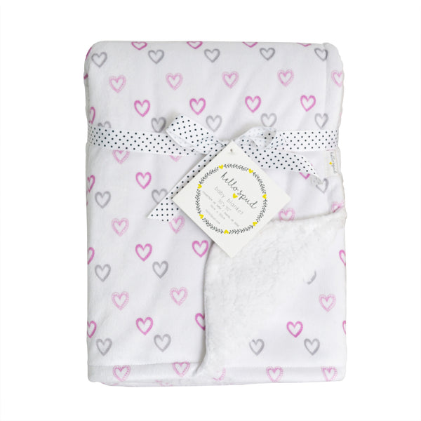 `REDUCED PRICE` Plush Blanket - True Love Hearts