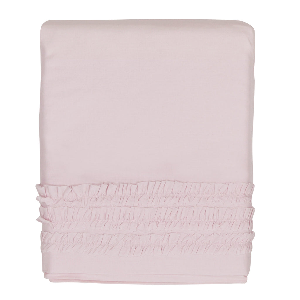 Hello Spud Crib Skirt - Pink Petite Ruffle Cotton