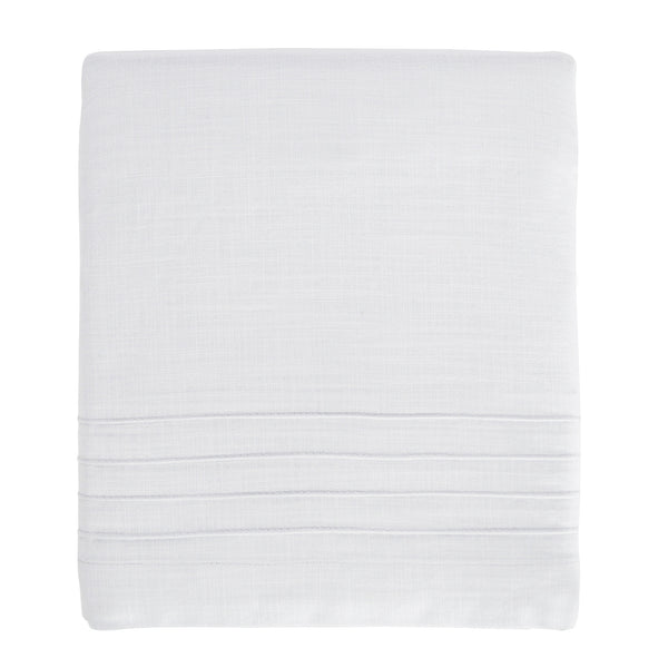 Hello Spud Crib Skirt - White Pintuck Cotton