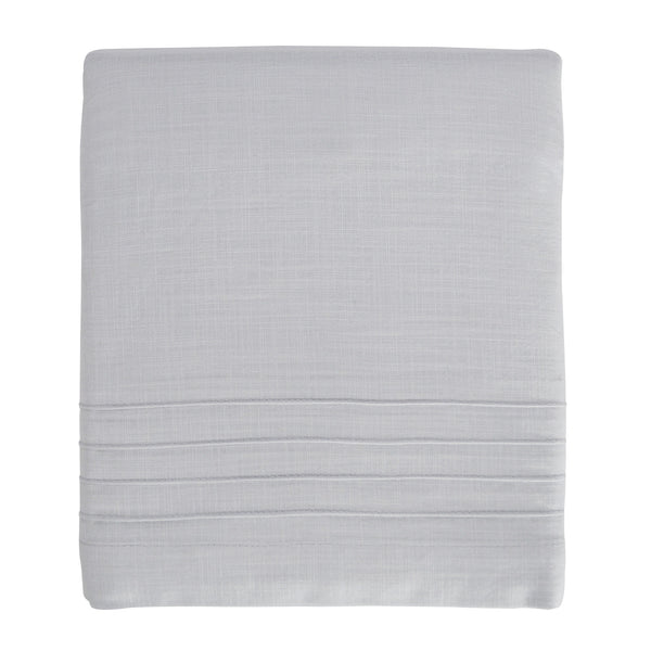 Hello Spud Crib Skirt - Gray Pintuck Cotton
