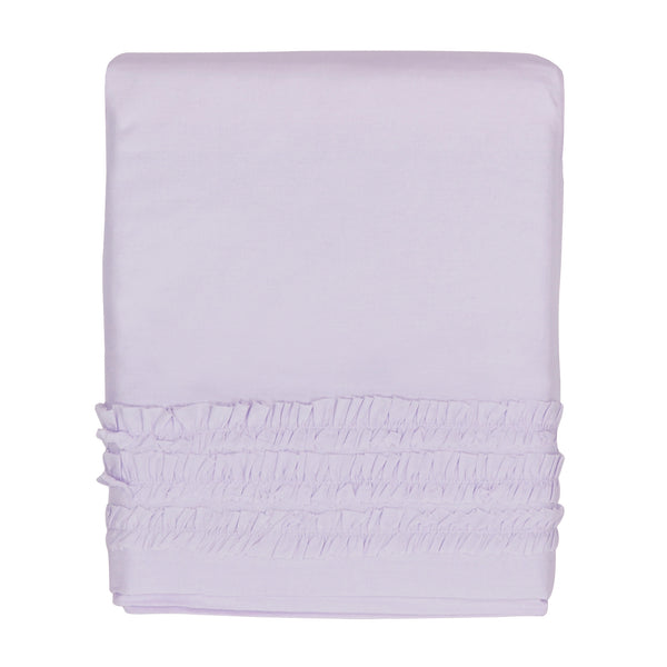 Hello Spud Crib Skirt Lavender Petite Ruffle Cotton