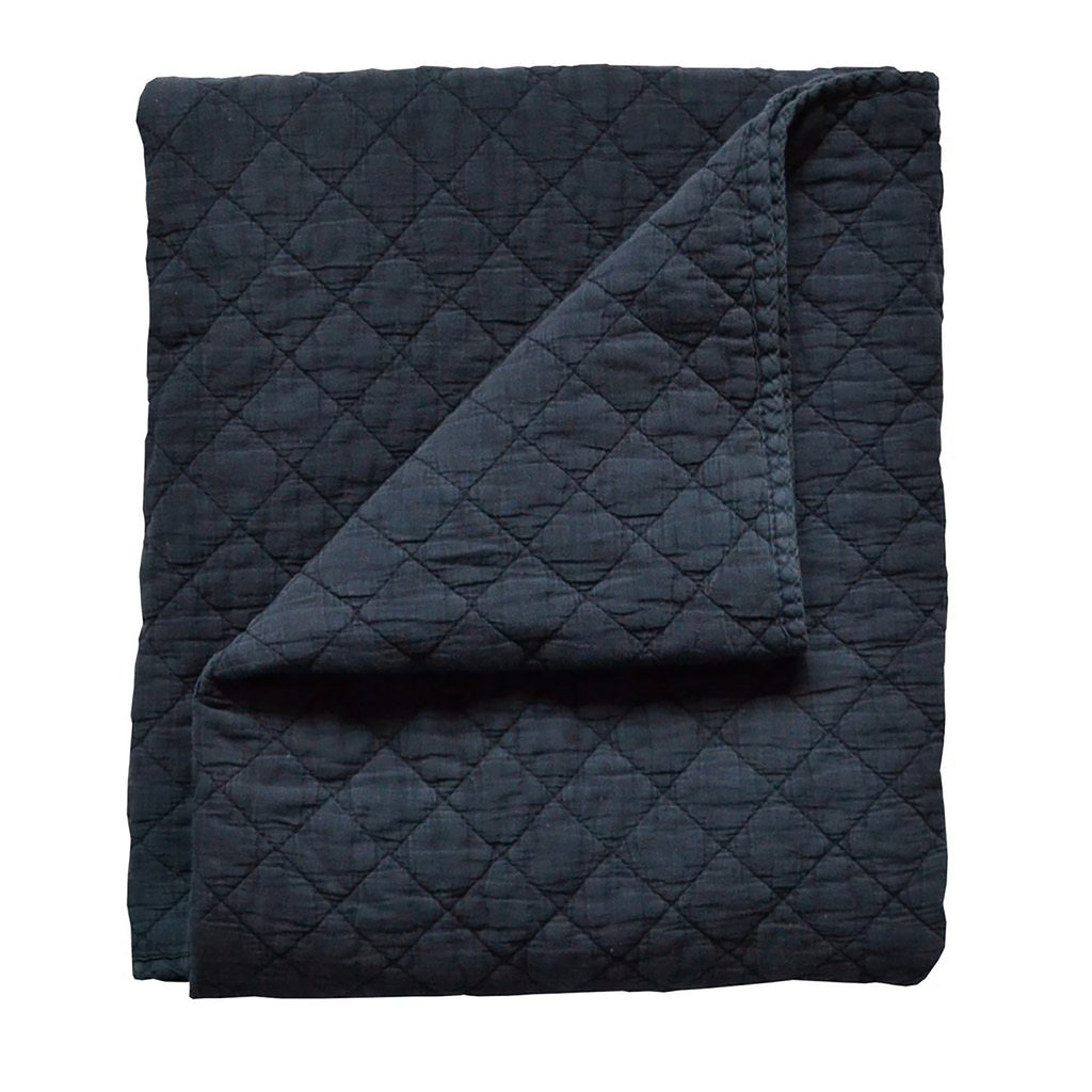 Quilt - Diamond Stonewash Navy Blue