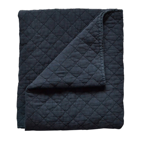 *NEW* Quilt - Diamond Stonewash Navy Blue