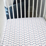 *LIMITED EDITION* Fitted Crib Sheet - Reindeer Love on White Organic Cotton Jersey