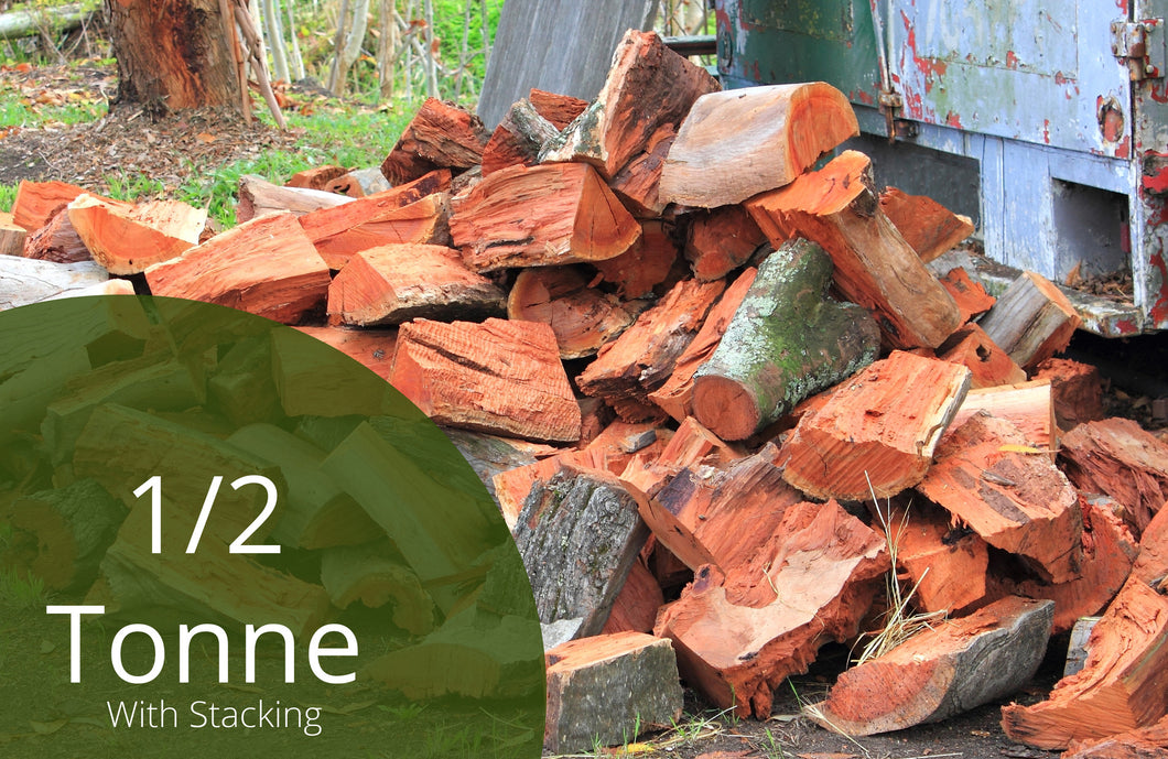 Split Redgum Firewood - 1m3 - With Stacking