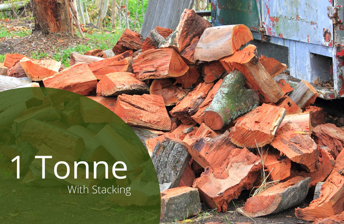 Split Redgum Firewood - 2m3 - With Stacking