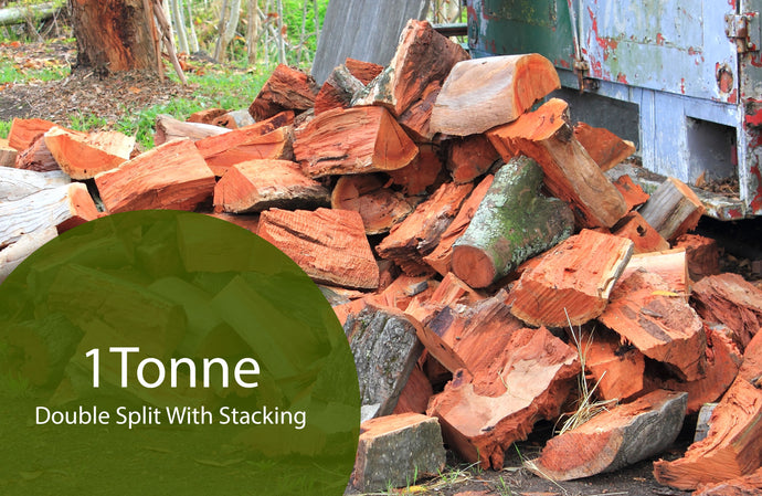 Double Split Redgum Firewood - 2m3 - With Stacking