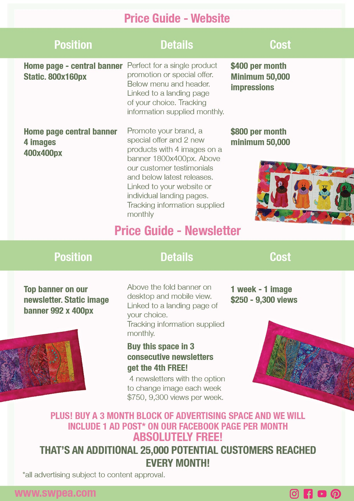 advertisings prace guide for machine embroidery advertisers