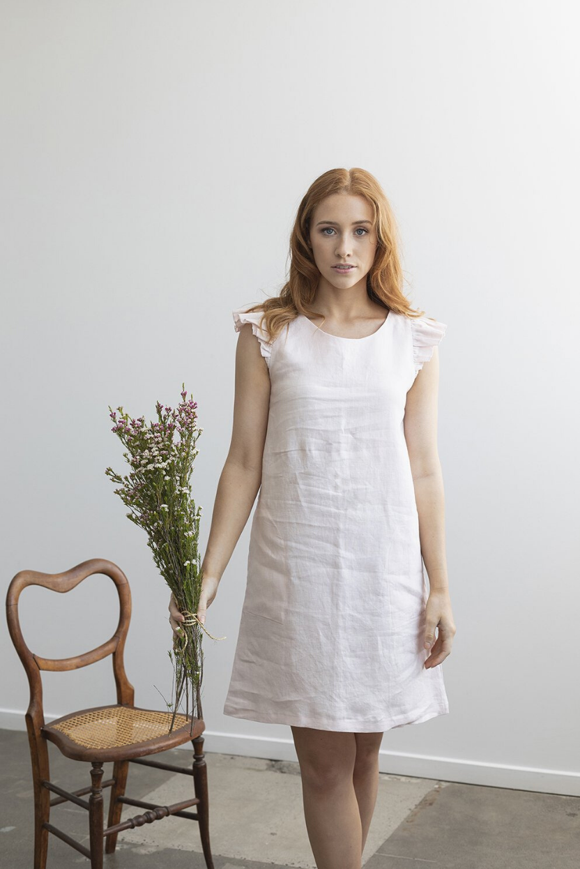 Linen is sustainable, biodegradable, natural, eco-friendly and put simply, super comfortable to wear Australian made womens linen fashion