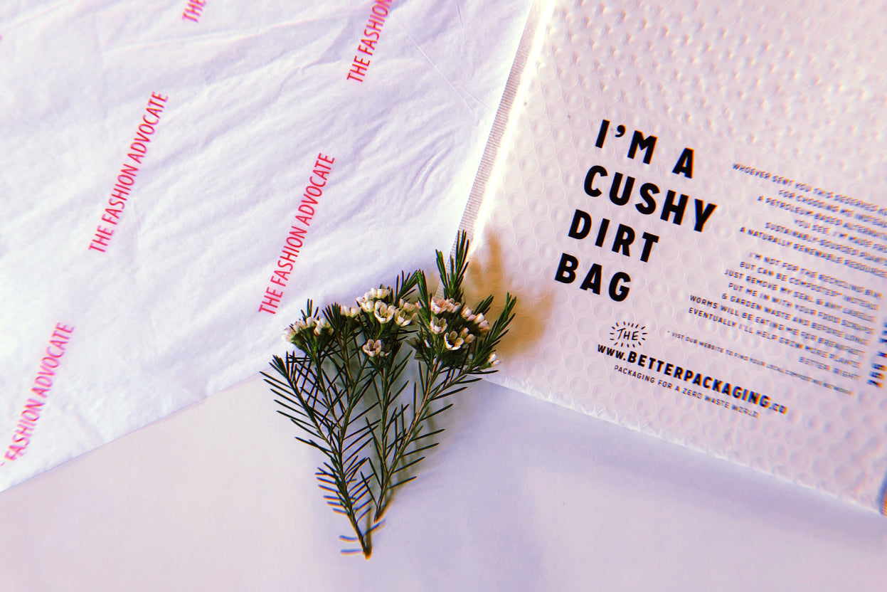 Sustainable plastic free online store packaging The Fashion Advocate The Better Packaging Co
