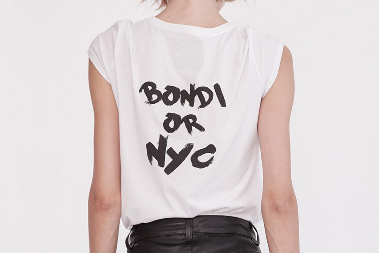 Bondi or NYC Tee Shirt Organic Cotton