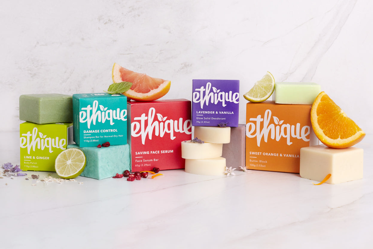 Considering 80 billion plastic shampoo and conditioner bottles are thrown out globally each year, and only 12% of plastic worldwide is recycled - every Ethique bar is making an incredibly positive impact