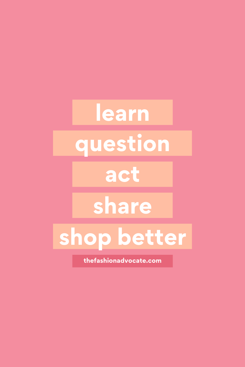 Five tips on how to be an ethical shopper and make a positive impact for Fashion Revolution Week by The Fashion Advocate