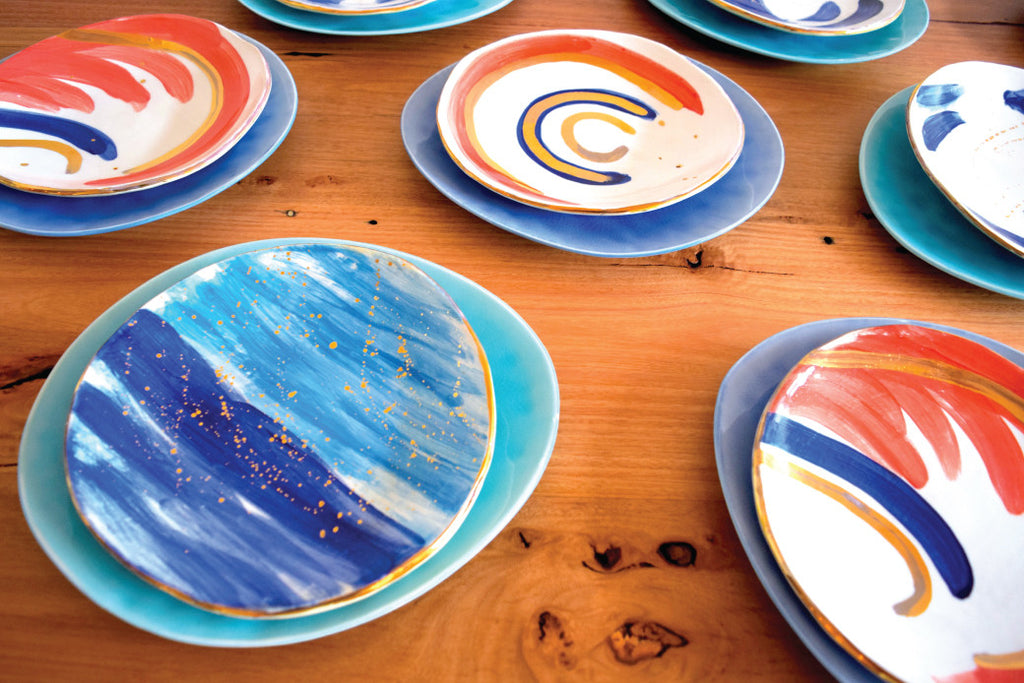 Carla Dinnage has designed the perfect ceramic cake plate The Fashion Advocate Australian made homewares