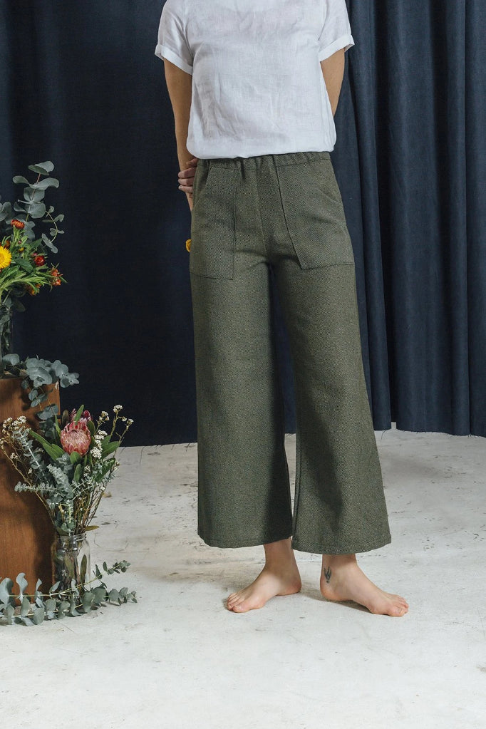 Green Primrose Pant Pants The Fashion Advocate ethical Australian fashion designer boutique Melbourne sustainable clothes